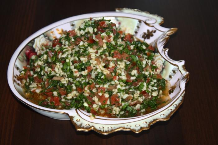 Арабский салат Табуле с булгуром