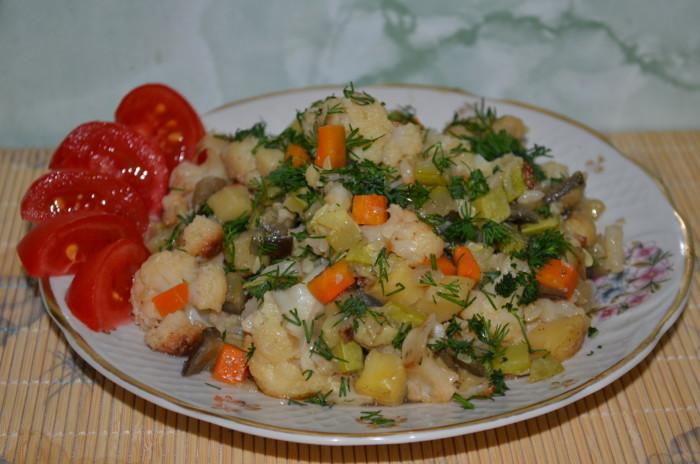 Рагу из кабачков и картошки рецепт с фото и капустой