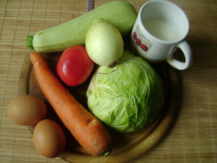запеканка из кабачков и капусты