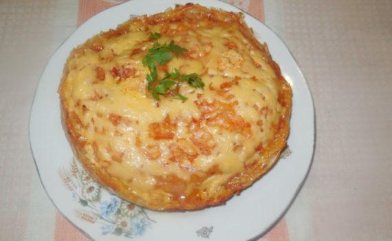 Оригинальные блюда из рисовой бумаги - запеканка или лазанья