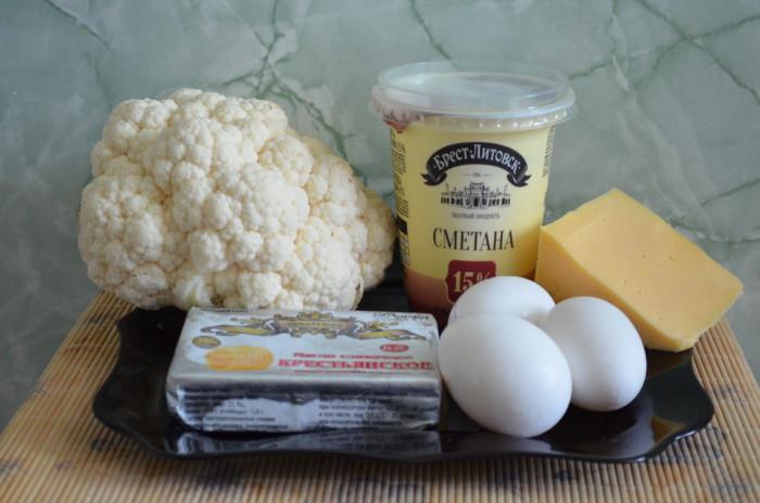 Рецепт цветная капуста яйца духовка сыр