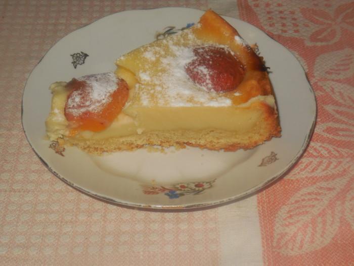 Творожный чизкейк с абрикосами