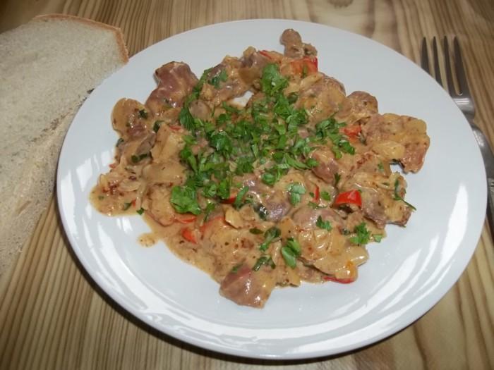 Куриные желудки в сметане рецепт приготовления на сковороде пошагово