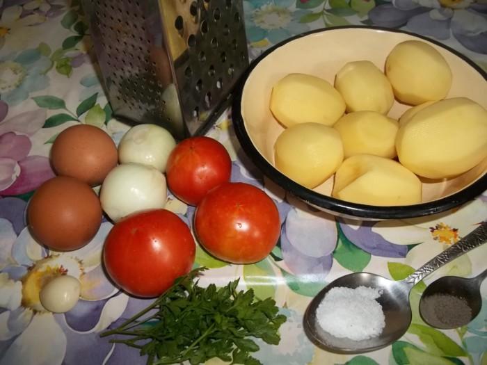 Драники из картофеля с помидорами