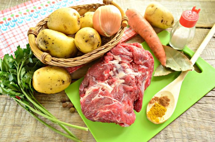 Шурпа из говядины с картошкой дома
