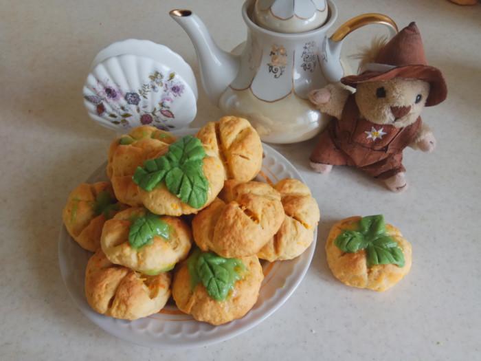 Морковное печенье на Хэллоуин в виде тыквы
