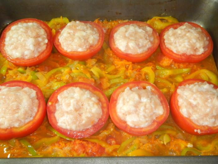 фаршированные помидоры с рисом в духовке рецепт