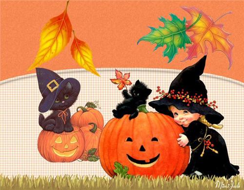 Страшные открытки с днем Хэллоуина