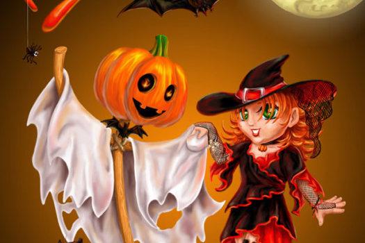 Поздравительные открытки на Хэллоуин