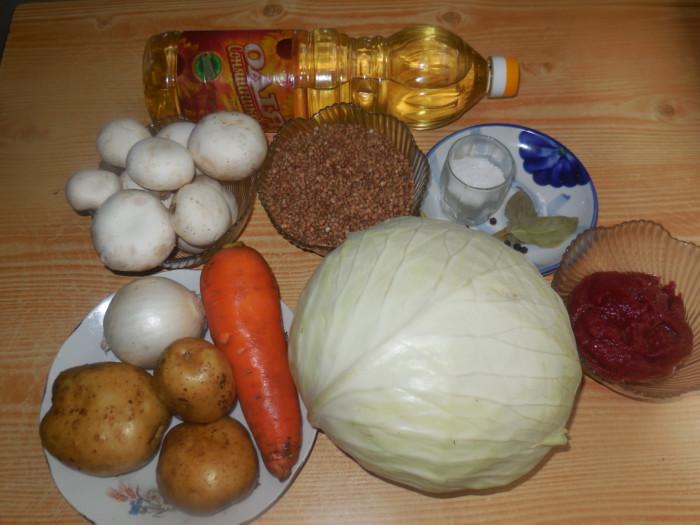 постные голубцы с гречкой грибами и картошкой