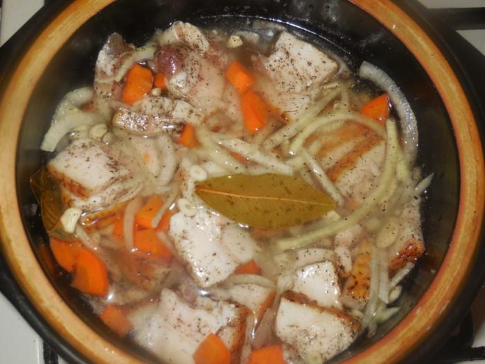 Маринованное сало в рассоле с уксусом