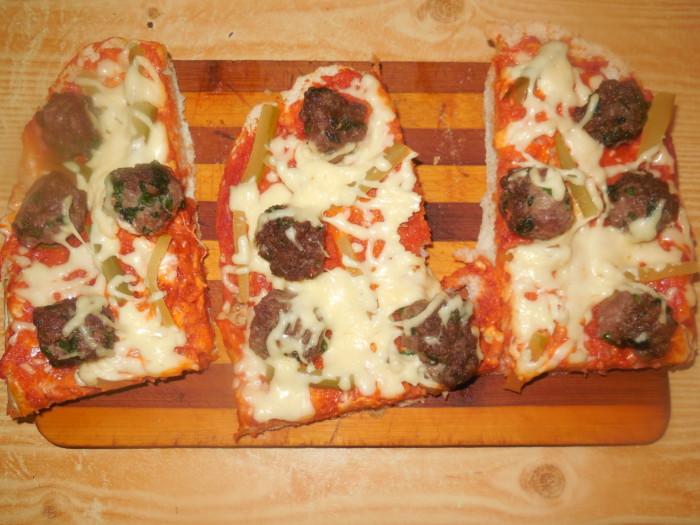 пицца из толстого лаваша в духовке рецепт