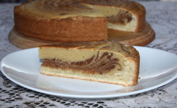Итальянский пирог Зебра на песочной основе