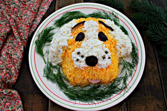 Идеи новогоднего декора блюд на год Собаки