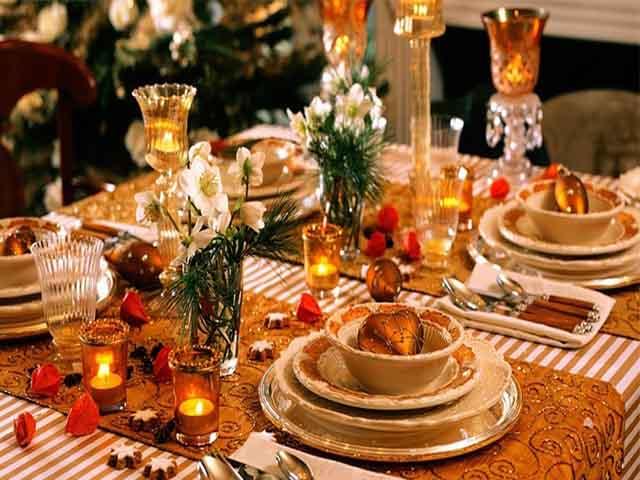 Сервировка новогоднего стола 2018 | оформление и украшение