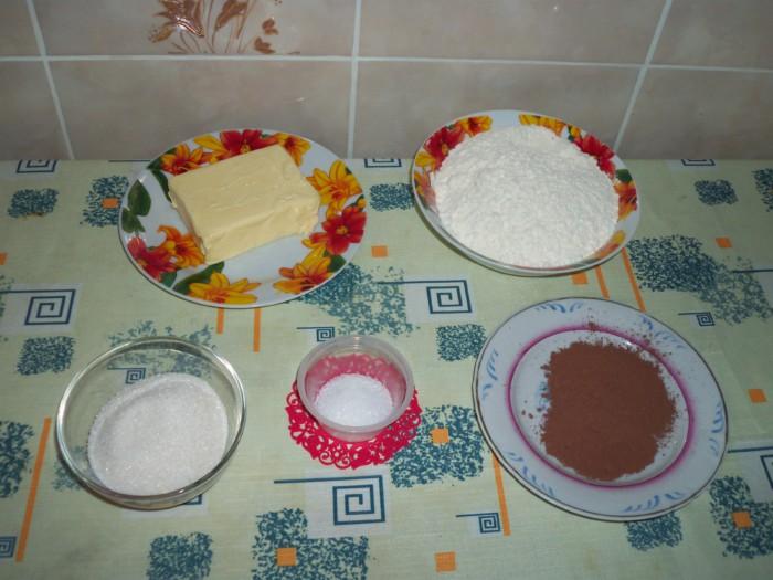 Новогоднее песочное печенье в виде собаки
