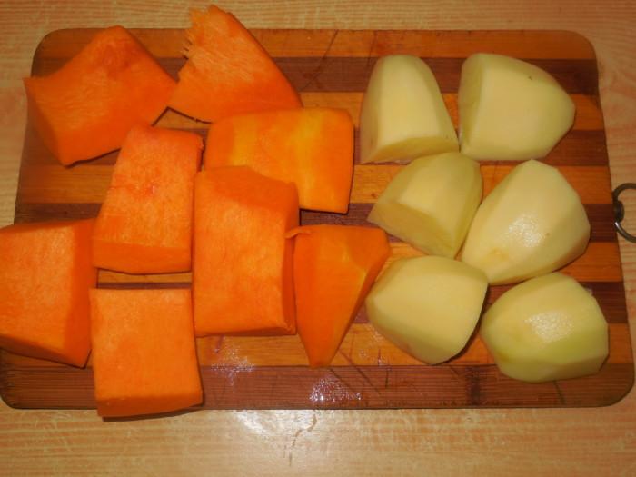 Дикий заяц в духовке, запеченный с картошкой и тыквой