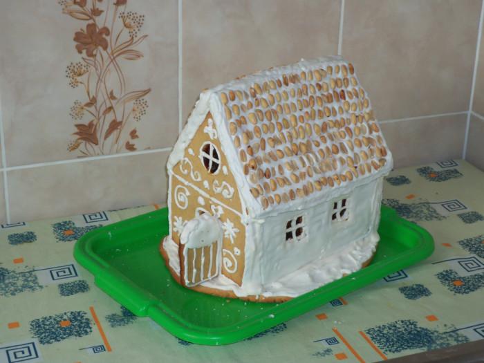 Имбирный пряничный домик на Новый год своими руками