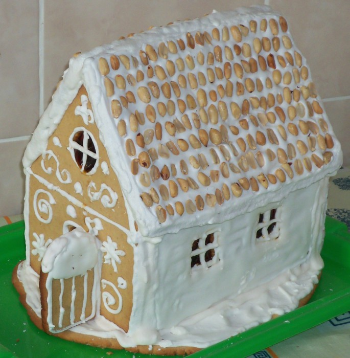 Как сделать пряничный домик в домашних 351
