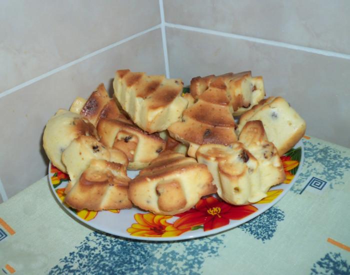 Рецепт вкусных кексов на кефире в силиконовых