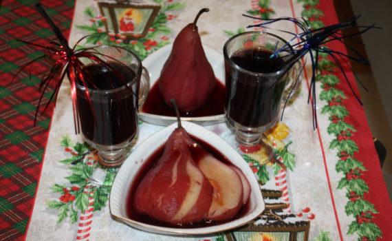 Домашний глинтвейн из красного вина с грушей, апельсином и корицей
