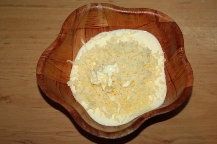 Сырный соус для салата