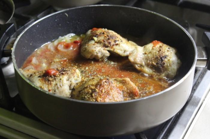 Чахохбили из курицы по-грузински