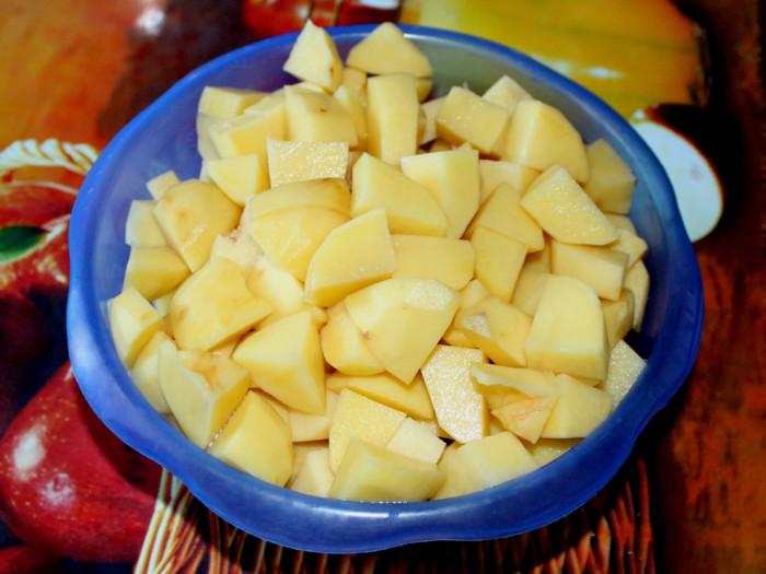 Картофель с грибами запеченный в духовке