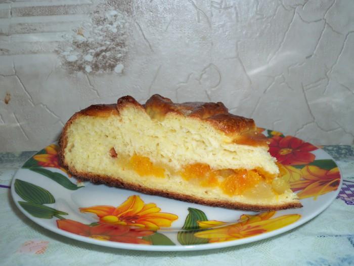 Вкусный дрожжевой пирог с тыквой и изюмом - пирог-Солнышко