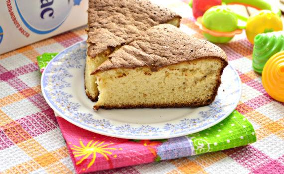 Быстрый и простой пирог из детской смеси к чаю