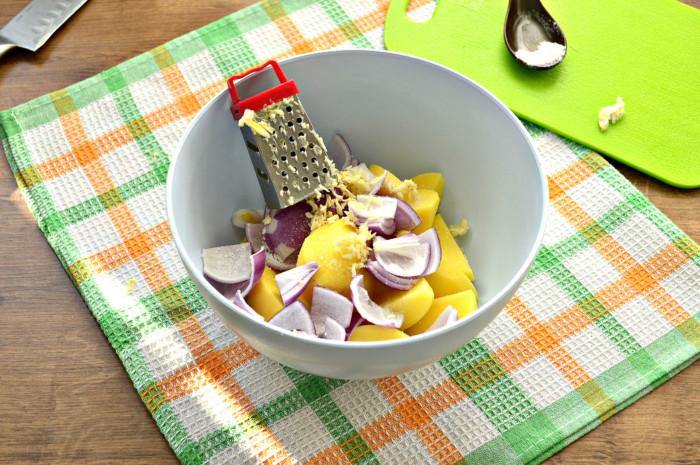Картошка запеченная дольками в духовке