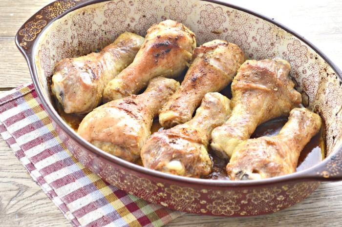 Куриные голени в соевом соусе запеченные в духовке