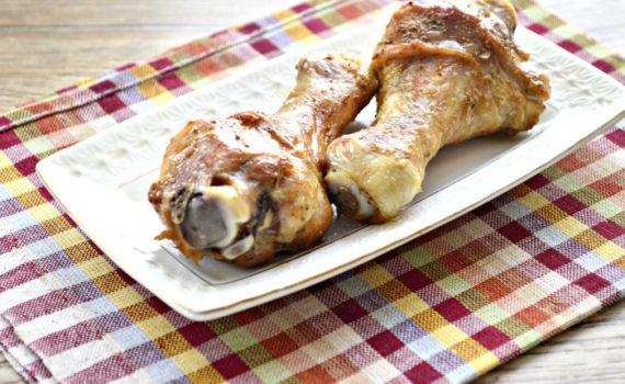 Куриные голени в соевом соусе в духовке