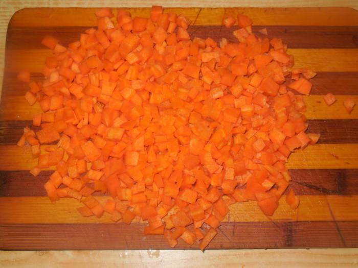мясной хлебец из куриных грудок с рисом и морковью
