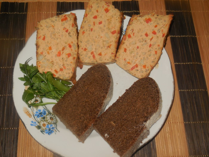Куриный хлебец в духовке или запеканка из куриного филе с рисом и овощами