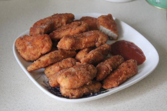 Хрустящие наггетсы из курицы в домашних условиях