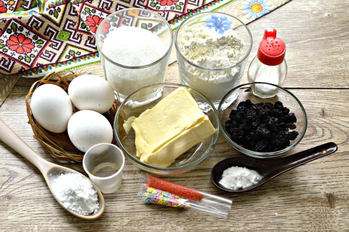 Кулич-кекс пасхальный с содой без дрожжей и молока