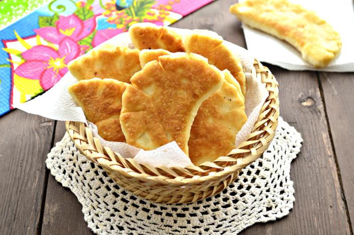 Дрожжевые булочки на сковороде