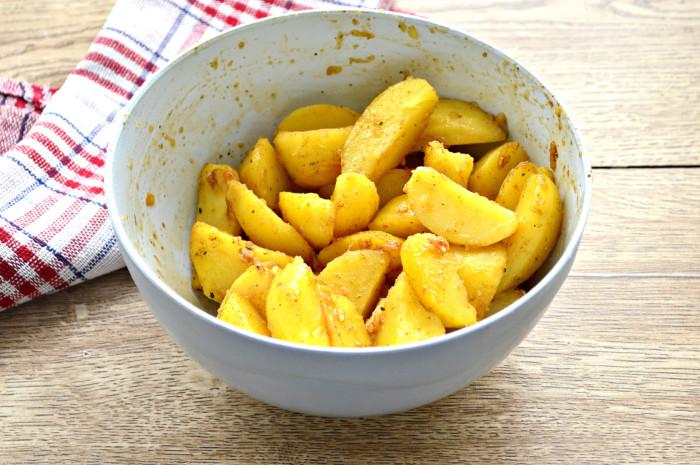 картошка в духовке с чесноком и соевым соусом