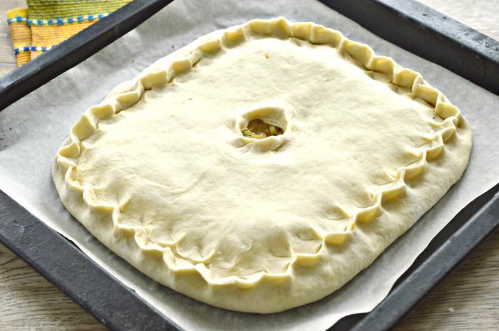 Как приготовить пирог с капустой из дрожжевого теста в духовке