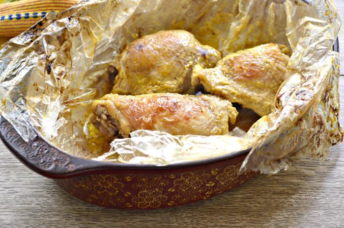 Куриные бедра в рукаве для запекания с корочкой