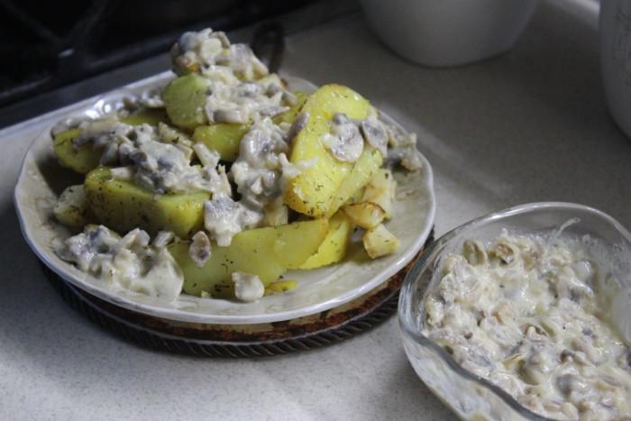 Сливочный соус с грибами к любому гарниру