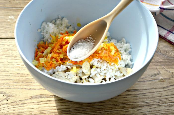 Начинка с курицей и рисом для пирожков и пирогов
