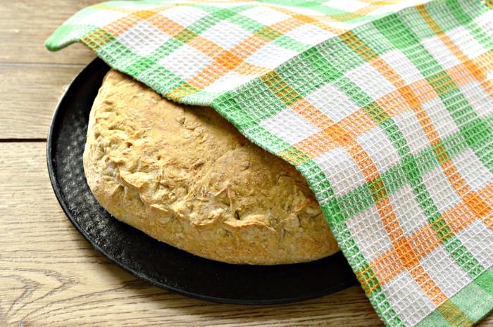 Пирог с курицей и рисом из цельнозерновой муки