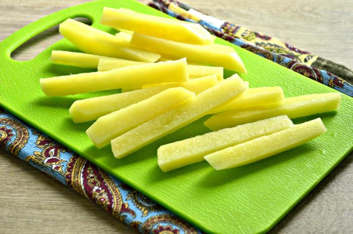 Домашний картофель фри на сковороде как в Макдональдсе