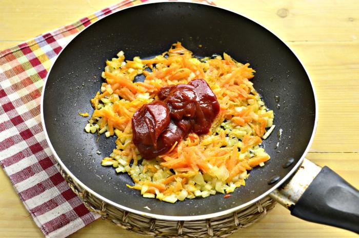 Вкусная гречневая каша с фаршем на сковороде