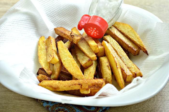 Домашняя картошка фри на сковороде как в Макдональдсе