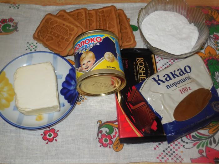 Шоколадное пирожное картошка из печенья со сгущенкой