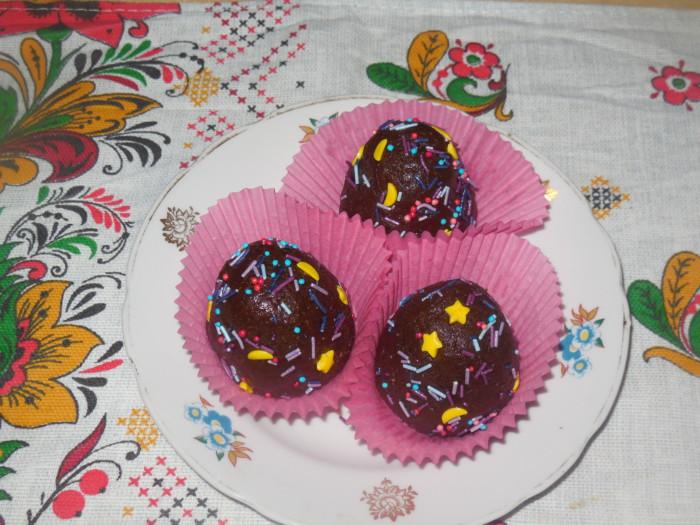 Шоколадное пирожное «картошка» из печенья
