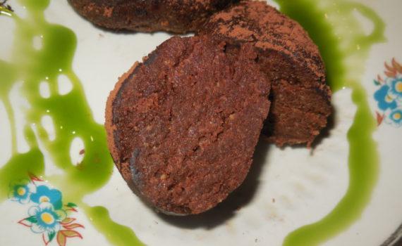 Пирожное картошка из печенья со сгущенкой